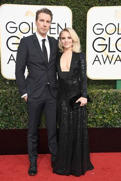 Dax Shepard and Kristen Bell at the 74th Annual Golden Globe Awards at The Beverly Hilton Hotel on January 8, 2017 in Beverly Hills, California.