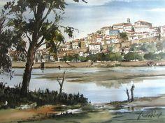 Cunha Rocha - Aguarela - Coimbra