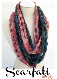 Twisted Chainlink Infinity Scarf ~~ Free Crochet Pattern