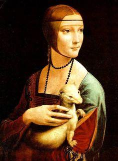 """Леонардо да Винчи """"Дама с горностаем"""""""
