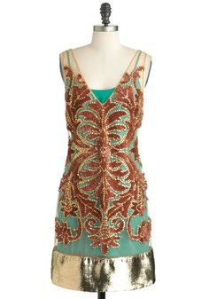 I don't like the golden bottom, but the dress is beautiful    Tracy Reese Art Deco-dence Dress, #ModCloth
