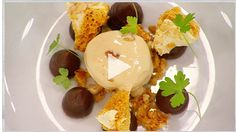Chocolate Ganache with Peanut & Caramel Ice Cream and Honeycomb-Masterchef Australia Masterclass Honeycomb Recipe, Masterchef Recipes, Delicious Desserts, Dessert Recipes, Cookie Dough Frosting, Ice Cream Freeze, Caramel Ice Cream, Frozen Yoghurt, Chocolate Ganache