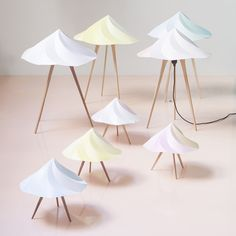 Buy online Chantilly large By moustache, polypropylene table lamp design Constance Guisset, chantilly Collection