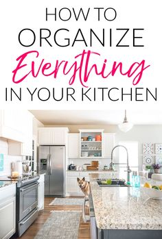 Organized Kitchen With Tips