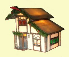 Tudor House -- A stained glass miniature Christmas house