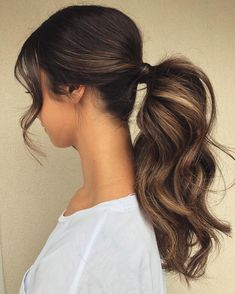 Ponytail Hairstyles You Can Try to Change Your Look 111 Elegant Ponytail Hairstyles for Any Occasion Of 94 Awesome Ponytail Hairstyles You Can Try to Change Your Look in 2020 Long Ponytail Hairstyles, Long Ponytails, Braided Hairstyles For Wedding, Diy Hairstyles, Ladies Hairstyles, Hairstyle Ideas, Puff Ponytail, Ponytail For Wedding, Black Hair Ponytail