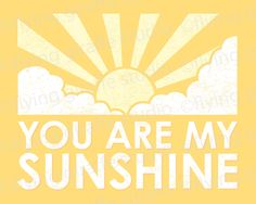 You Are My Sunshine Print  Nursery Art  by flyinggiraffestudio, $15.00