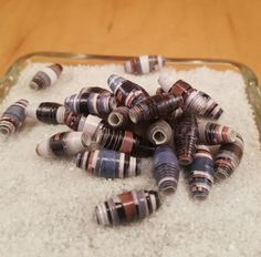 35 ct HANDMADE PAPER BEADS Jewelry Supplies Loose Beads Bicone Upcycled  (HHH) | Jewelry & Watches, Loose Beads, Other Loose Beads | eBay!