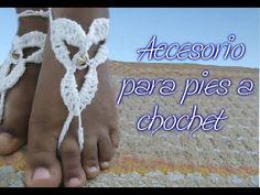 Accesorio para los pies a crochet - YouTube