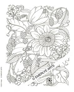 1185 Best Adult Colouring Flowers Images Coloring Books