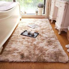 Bring extra warmth and comfort to your home with the fabulous Perry soft plush area rug! Church Interior Design, Interior Exterior, Fur Carpet, Rugs On Carpet, Plastic Carpet Runner, Plush Area Rugs, Rug Placement, Unique Rugs, Modular Homes