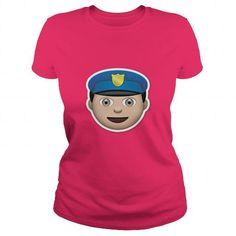 Awesome Tee  POLICE OFFICER Emoji shirt T shirts