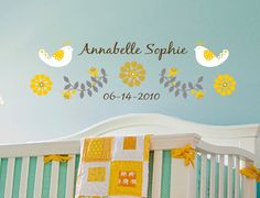 Sweet Sunshine Wall Decal with personalized name - Removable Vinyl. $39.00, via Etsy.