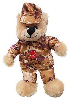 aaa94932b27 1 X God Bless the USA Army Singing Teddy Bear