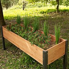 "Elevated Outdoor Raised Garden Bed Planter Box - 70 x 24 x 29"" High"