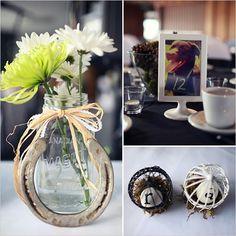 mason jar arrangement for wedding 36