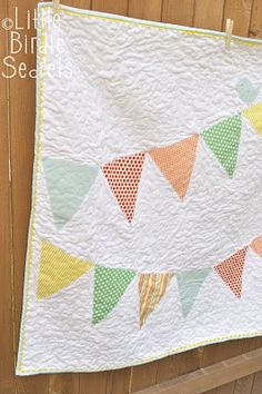 baby bunting quilt.....so cute!  there's even a little birdie on the bunting