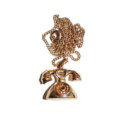 Vintage Phone Necklace - Vintage Telephone Kitsch Charm Jewelry