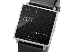 I need a one of these!  Qlocktwo: a wrist watch that literally tells you the time