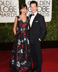 Benedict Cumberbatch and Sophie Hunter #GoldenGlobes2015 #awards #redcarpet #bestdressedcouples