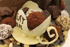 Chocolate Tea Cup by ~Rose15r15  Artisan Crafts / Culinary Arts / Food Art - this looks yum