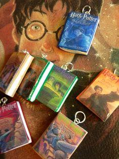 Wizard Book Pendants on Etsy, $3.00