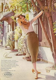 Evan Picone vintage 1950s style inspiration | September Vogue 1956