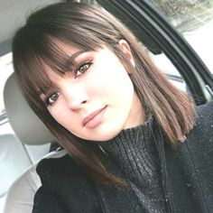 38 Chic Short Bob Haircuts With Bangs That Are Totally Fabulous, Bob Haircuts Wi. - 38 Chic Short Bob Haircuts With Bangs Th. Short Bob Haircuts, Long Bob Hairstyles, Haircut Bob, Haircuts With Fringe, Hairstyles For Medium Length Hair With Bangs, Layered Haircuts, Braid Hairstyles, Medium Straight Hairstyles, Hairstyles For Women