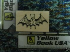 Cute Doodle Bat rubber stamp - new #HeroArts #WoodMountedRubber