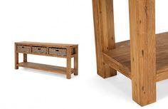 Konsolentisch Cordoba 3Körbe Teak massiv Holz Möbel