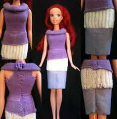 Toddler Sock Doll Clothes ~•~ These are the doll clothes I made from my daughter's old socks. I made a shirt and skirt. The shirt turned out really well, but the skirt, I'm afraid, is not going to last long due to the stubbornness of that particular sock material. I got instructions on how to make these from http://www.weknowstuff.us.com/we-know-stuff/2011/04/kids-craft-make-doll-dresses-out-of-old-baby-socks.html. Note: Easily done by a first-timer at sewing.