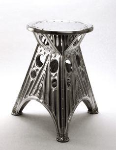 corrugation metal furniture design stool