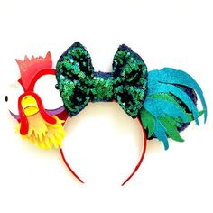 "Minnie Mouse Disney Ears By Magic Mouse EarsMoana ""Hei-Hei Chicken"" Inspired! Minnie Mouse Disney Ears By Magic Mouse Ears Walt Disney, Disney Diy, Diy Disney Ears, Disney Bows, Disney Crafts, Disney Trips, Disney Halloween Ears, Disney Outfits, Magic Mouse"