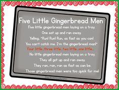 Five Little Gingerbread Men Poem