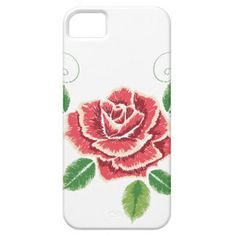 Embroidery Red Rose Ornament iPhone SE/5/5s Case