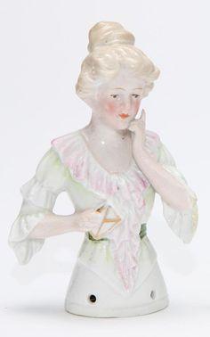 German Porcelain Half Doll  figurine by mockingbirdgallerync