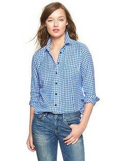 Shrunken boyfriend gingham flannel shirt | Gap $24.99 -50%