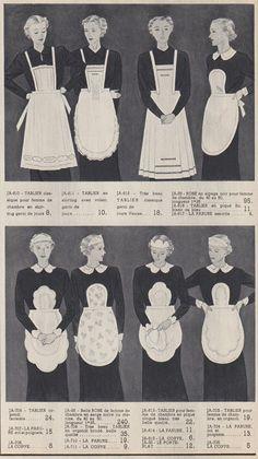 1930s maids uniform aprons