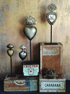Sacred Heart Collection - Set of 4 - On Metal Stands - Eleanor Brown Boutique