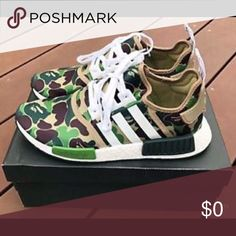 Addidas/Bathing Ape NMD_R1 Green Camo 2016 Fall Winter Sneaker Collection addidas Shoes Sneakers
