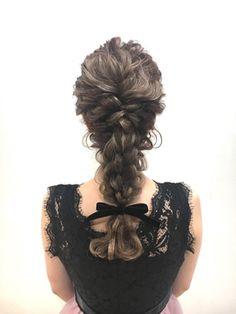 【e.ll】結婚式や卒業式、イベントに♪編みおろしスタイル - 24時間いつでもWEB予約OK!ヘアスタイル10万点以上掲載!お気に入りの髪型、人気のヘアスタイルを探すならKirei Style[キレイスタイル]で。