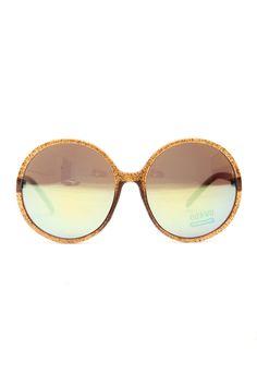 743a355a9b62e Brown Glitter Piped Round Frame Sunglasses   Cicihot Sunglasses Online  Store  Women s Sunglasses