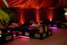 very cool moraccan room. would consider lights just under platform of bed...very romantic