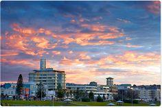 Bondi beach town under colour
