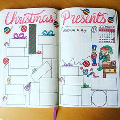 Christmas presents list bujo inspiration. christmas presents list bujo inspiration bullet journal Bullet Journal Christmas, Bullet Journal Set Up, Bullet Journal Junkies, My Journal, Bullet Journal Inspiration, Journal Pages, Bullet Journal Birthday Tracker, December Bullet Journal, Bullet Journal Layout
