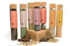 Sweet, simple, old fashioned, spice test tubes. <3