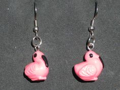 Pink Flamingo Earrings - Pink Flamingo Glass Earrings - Dove with Olive Branch Earrings - 3 Different Styles to Choose From