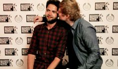 Words cannot express how much I love this:')  Ed sheeran and Mike rosenburg