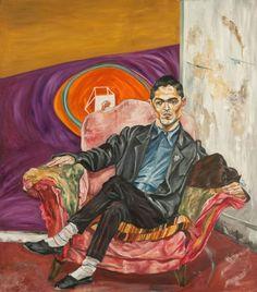 Gustavo Marrone en su atelier (1988) Oleo sobre tela - Marcia Schvartz (Argentina 1955) Museo Nacional de Bellas Artes de Buenos Aires