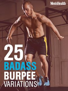 You know how to do a standard burpee--and maybe 1 or 2 variations. But have you ever seen 25 DIFFERENT burpees?! You can make an entire cardio workout out of just doing 20 reps of your 5 favorite variations. Repeat 3 times for a brutal total-body workout.